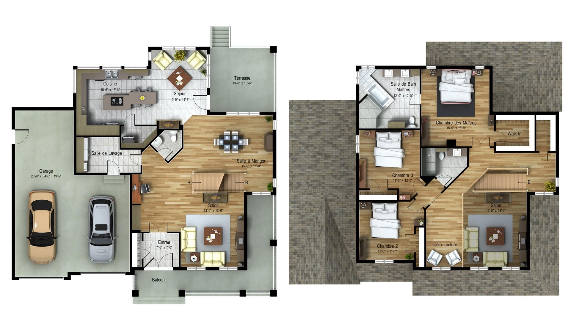 Cottage_Champetre_Cape-May_Plan maison de prestige_Domicil