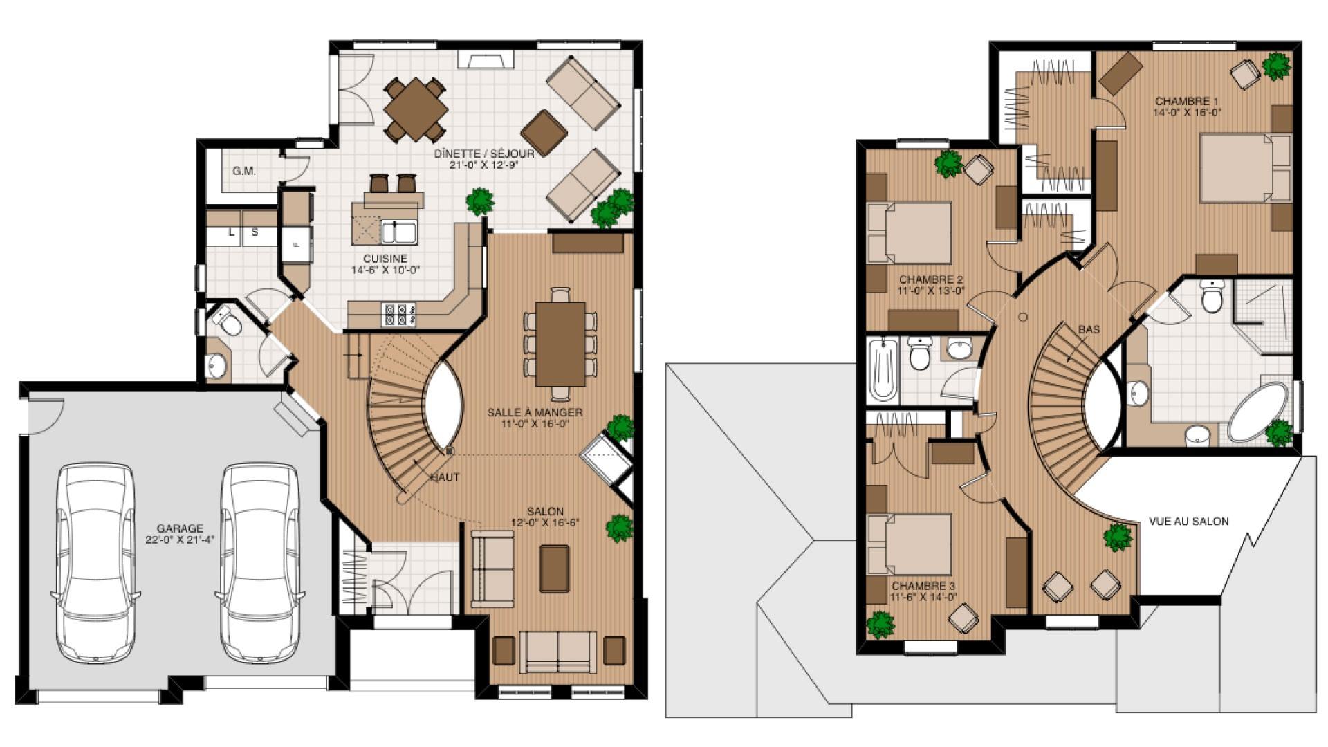 Cottage_Classique_Karma_Plan de maison de luxe_Domicil