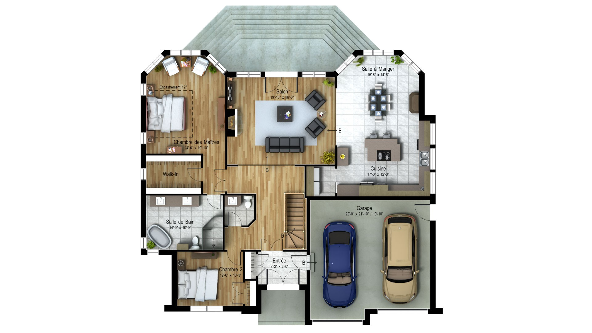 Cottage_Contemporain_Altamer_Plan de maison de luxe_Domicil