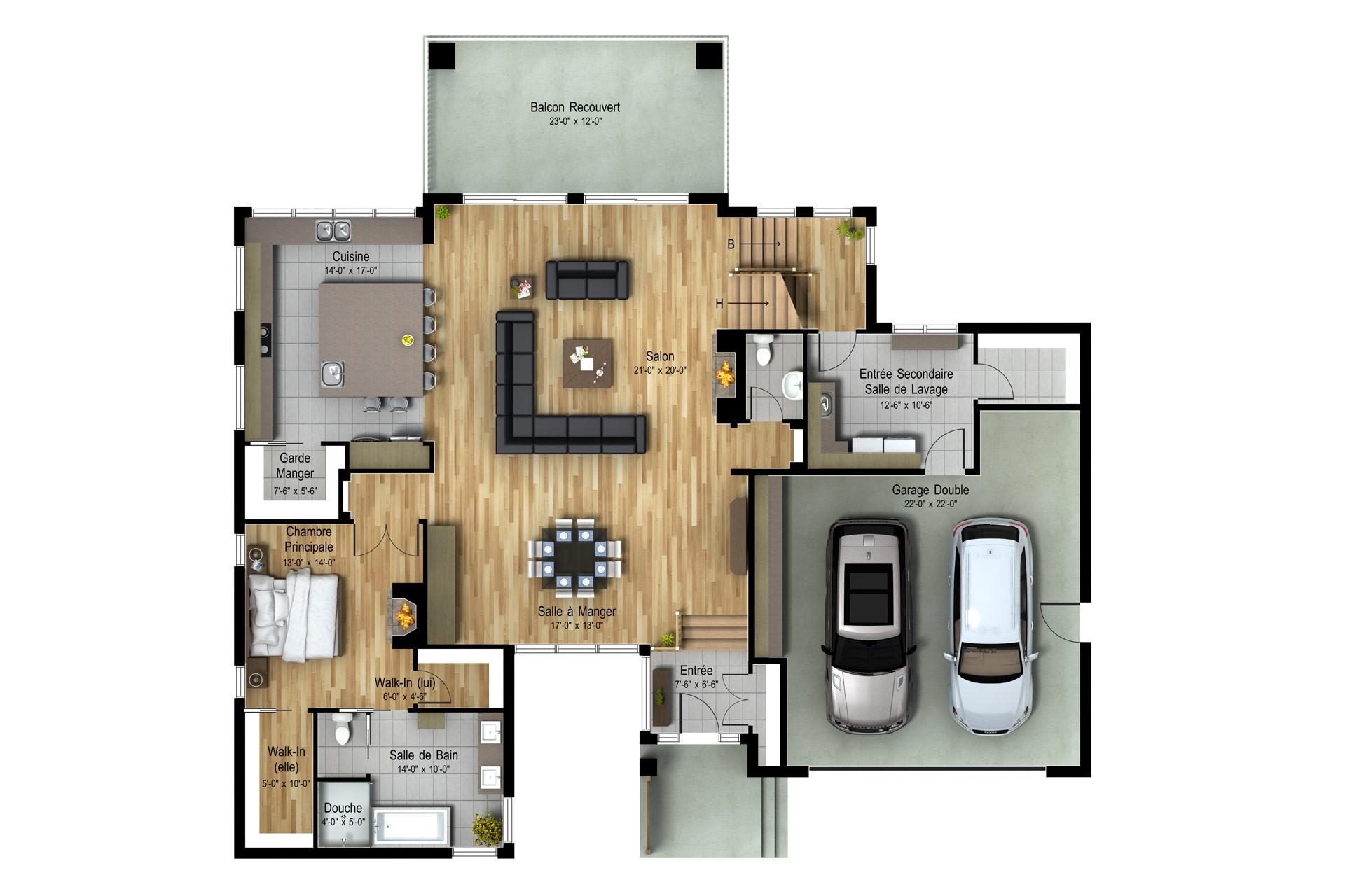 Contemporain-Organique_MONT-BLANC_Sec-Plan maison de prestige_Domicil