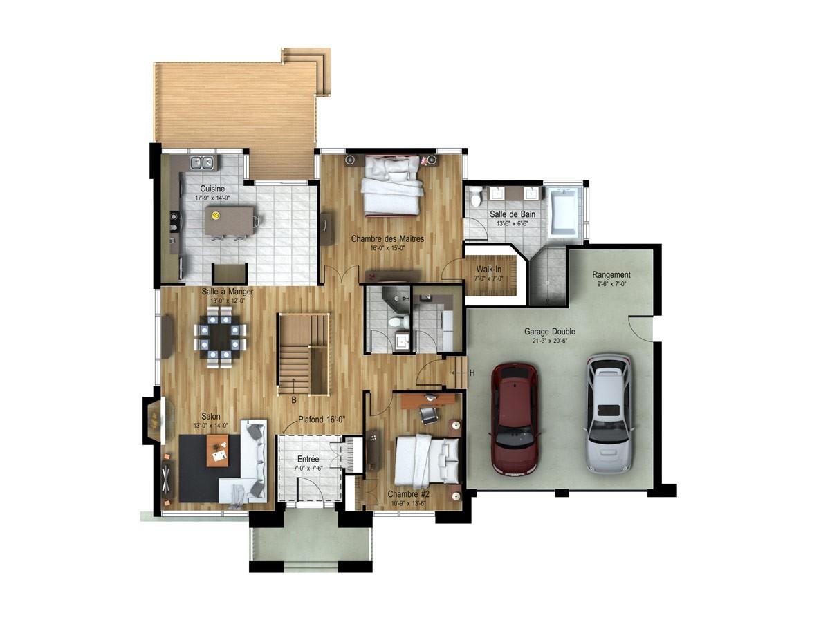 Contemporain_BEVERLY_Sec-Plan maison de prestige_Domicil