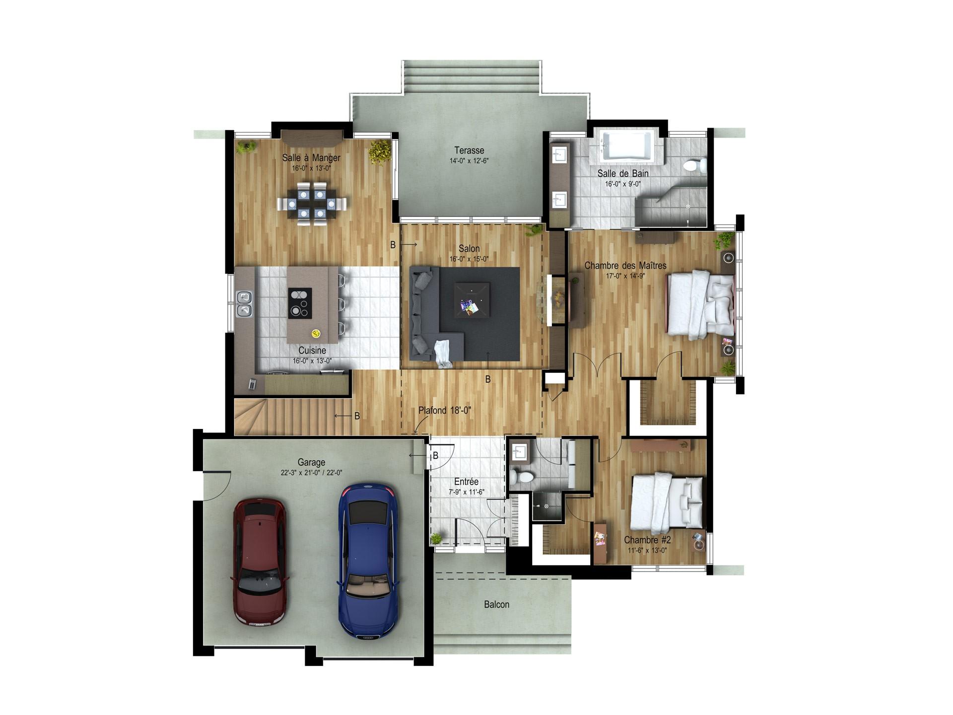 Contemporain_PARAISO_Sec-Plan maison de prestige_Domicil