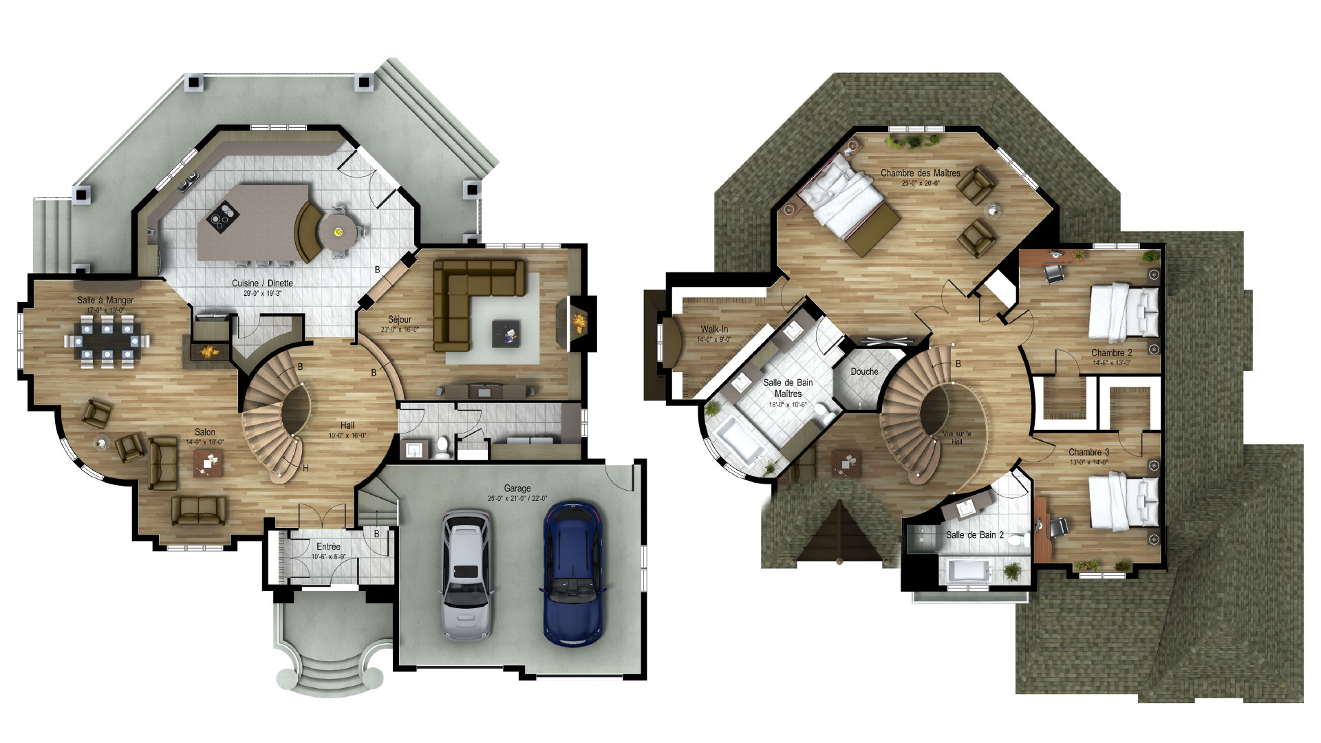 Contemporary Cottage_Château-Royal_Luxury Home plan_Domicil