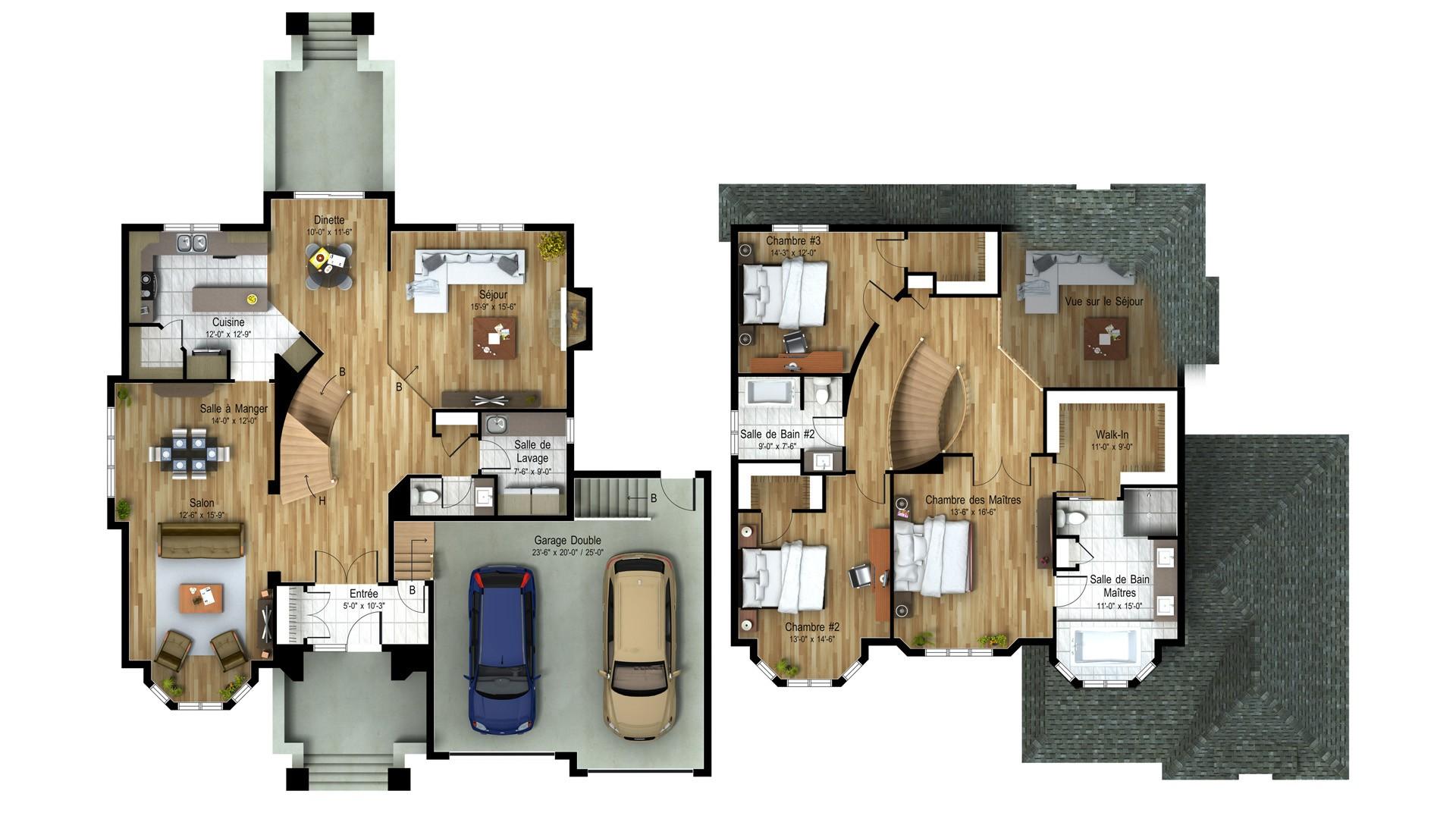 Cottage_Chateaux_Chateaufort_Plan maison de prestige_Domicil