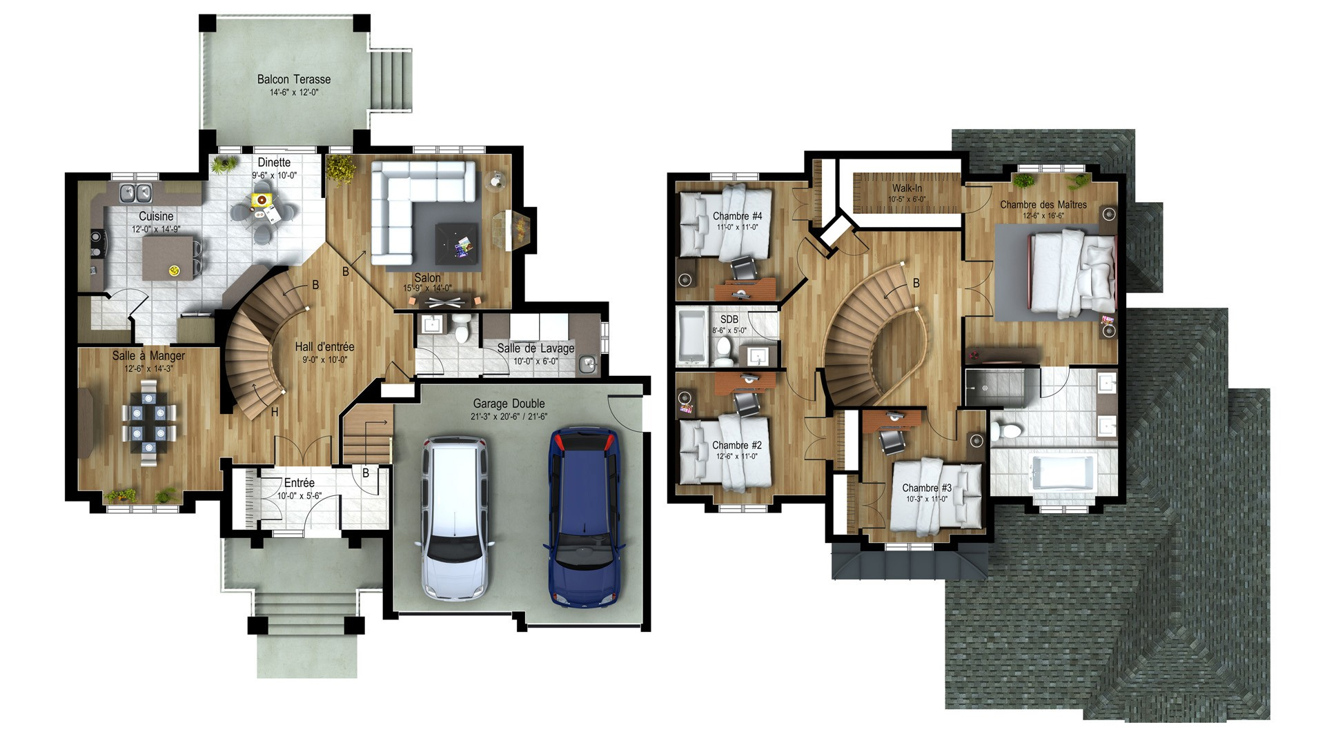 Cottage_Chateauneuf_Luxury Home Plan_Domicil