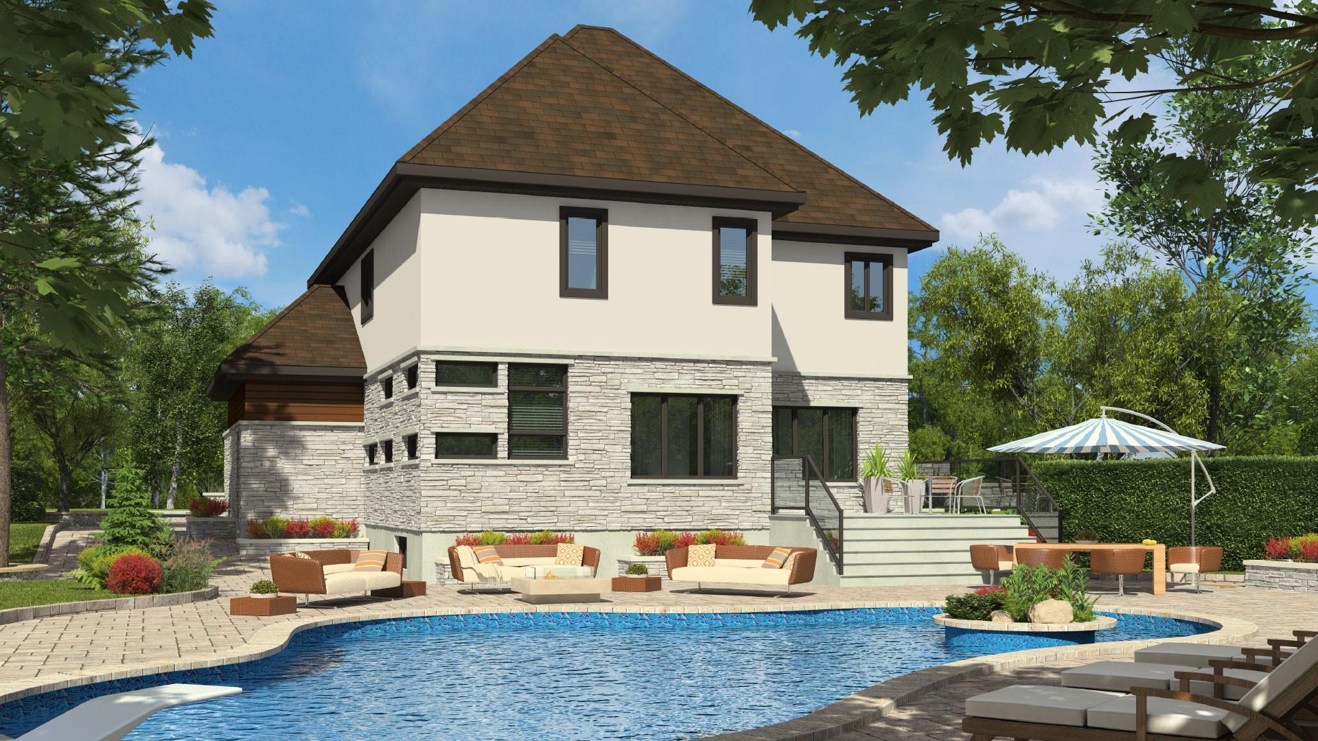 Cottage_Contemporain_Athena_Maison de prestige_Domicil