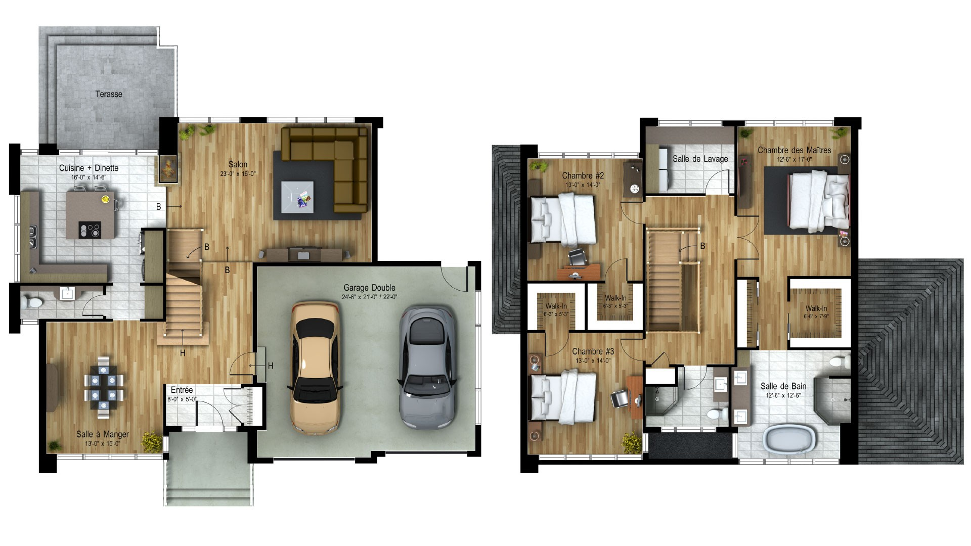 Cottage_Contemporain_Dreams_Plan maison de luxe_Domicil
