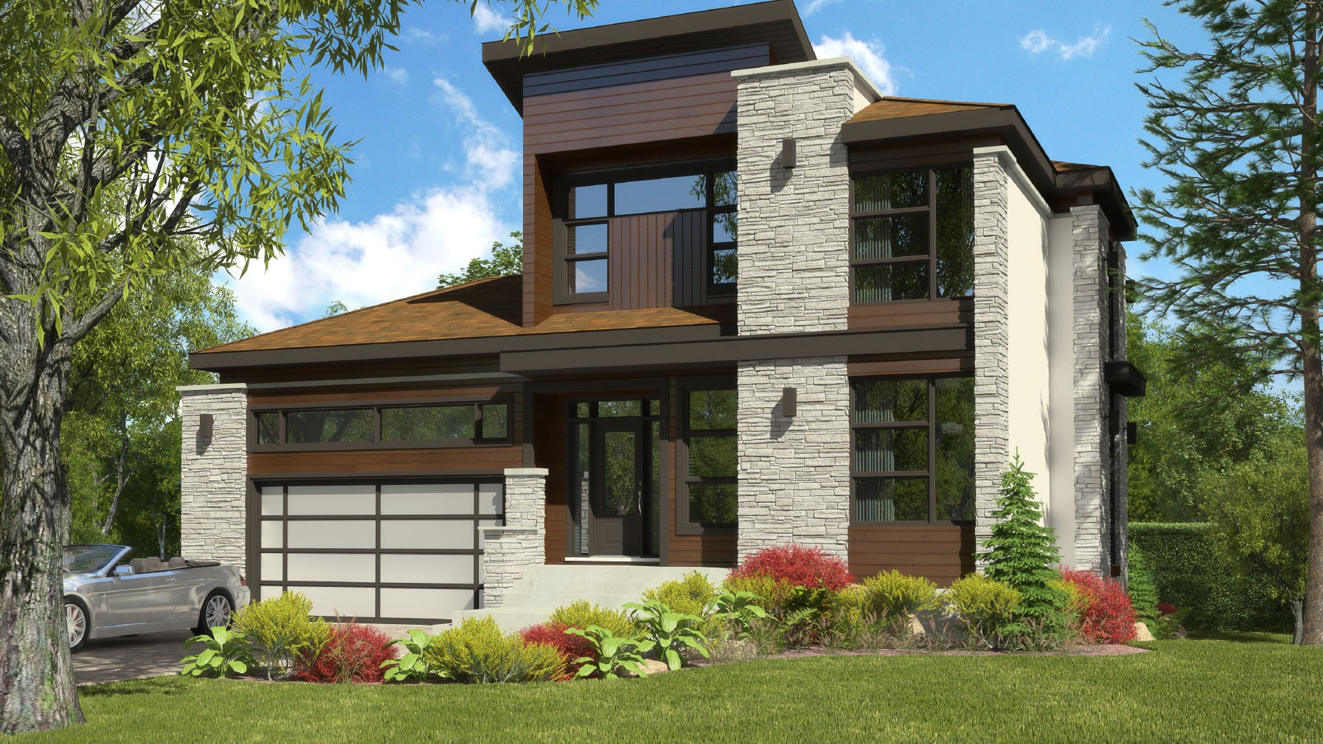 Contemporary Cottage_Elegancia_Luxury Home plan_Domicil