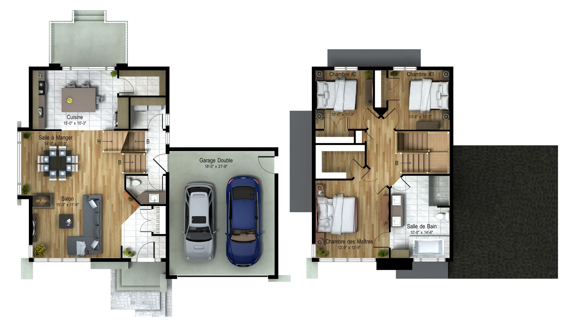 Cottage_Contemporain_Estrella_Plan maison de prestige_Domicil