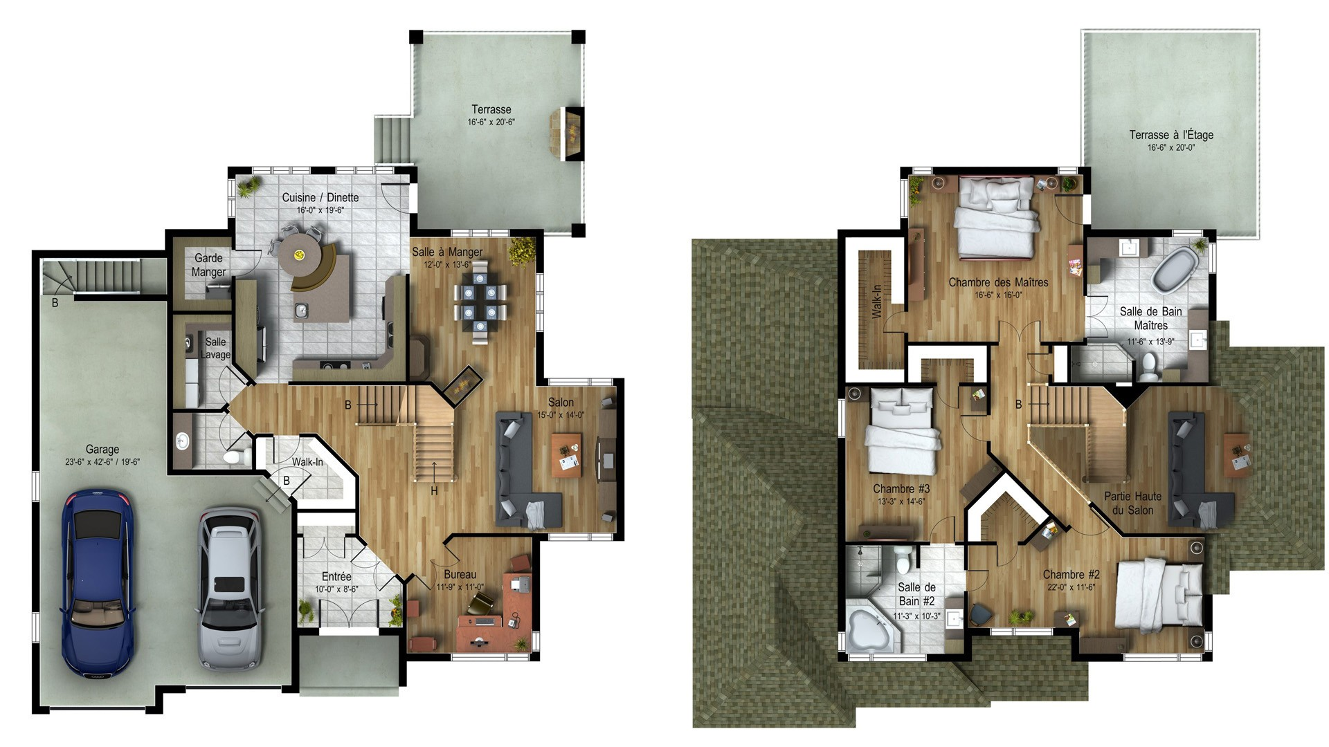 Cottage_Contemporain_Nuance_Plan maison de prestige_Domicil