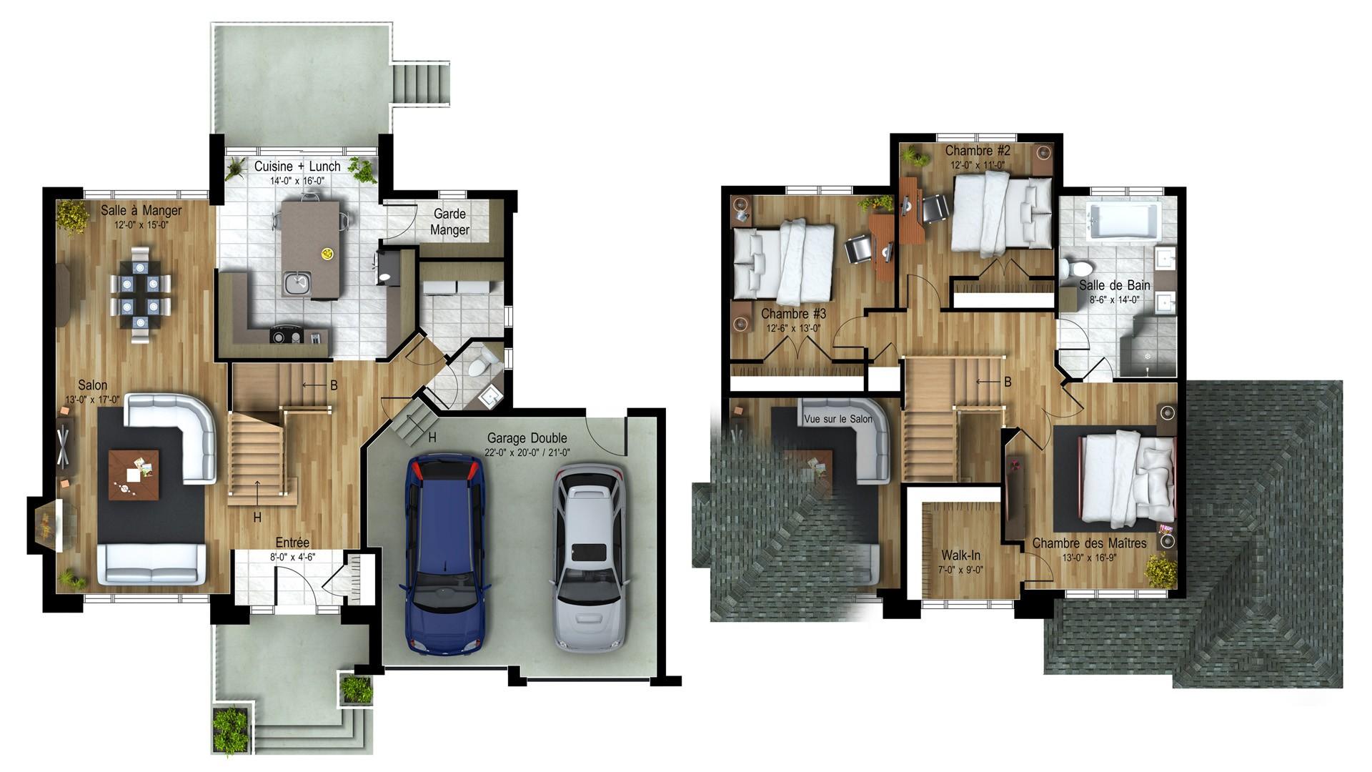 Cottage_Contemporain_Nuevo_Plan maison de prestige_Domicil