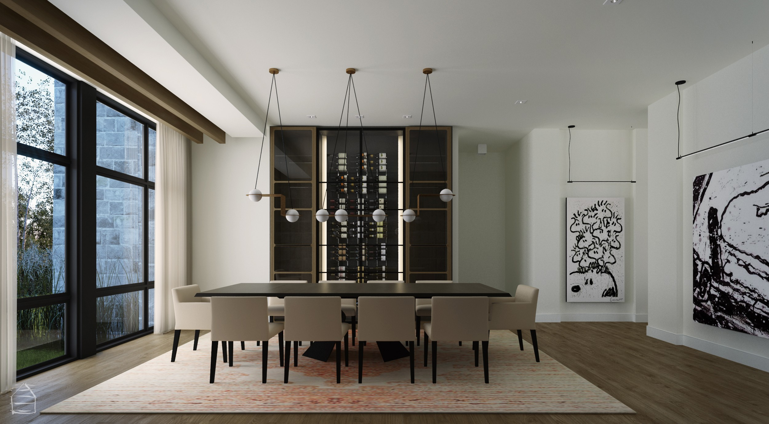 Dining room - Exclusive Concept Faîte-Boisé, Terrebonne – Luxury Home – Domicil