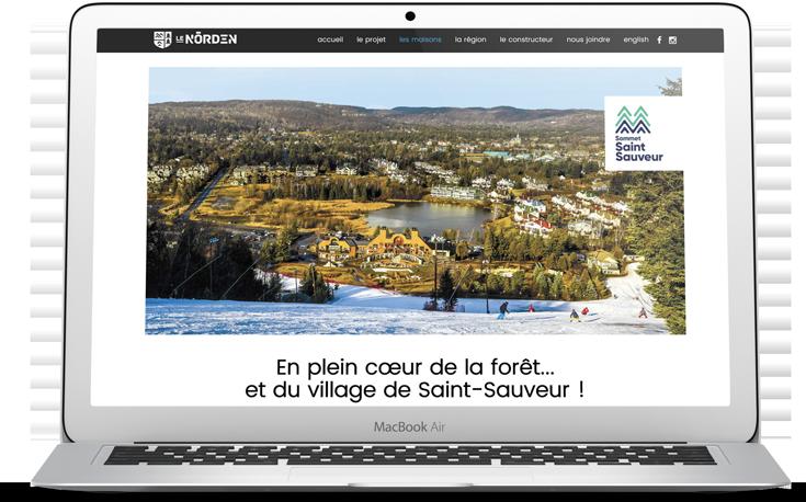 Maisons jumelées Domicil | Le Norden | Site | Sommet Saint-Sauveur